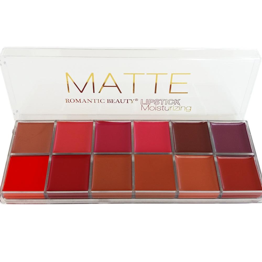 Trusă 12 Rujuri Mate Matte Lipstick Romantic Beauty 02 Truse